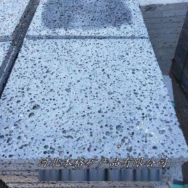 本格供应火山石板材 黑洞石地砖 火山石机切面板材