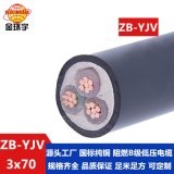 金环宇 深圳yjv电缆 国标 ZB-YJV 3X70平方 铜芯阻燃电缆价格