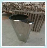 新品欧式高档精致台面花盆摆件不锈钢园林花盆