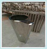 新品歐式高檔精緻檯面花盆擺件不鏽鋼園林花盆