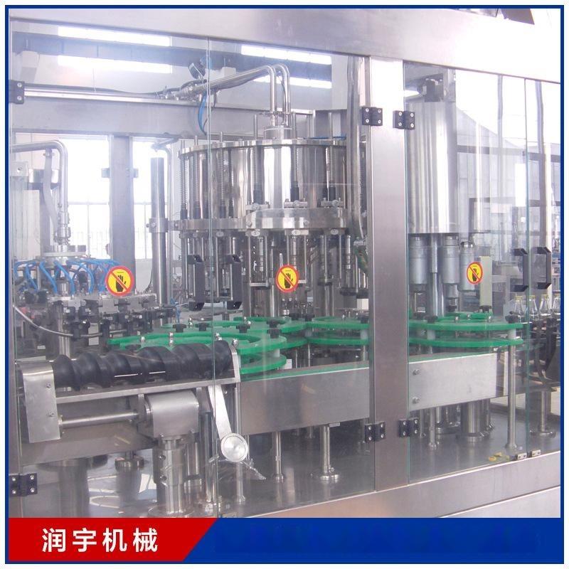【果汁灌装机】 三合一灌装机 张家港润宇机械厂家定制