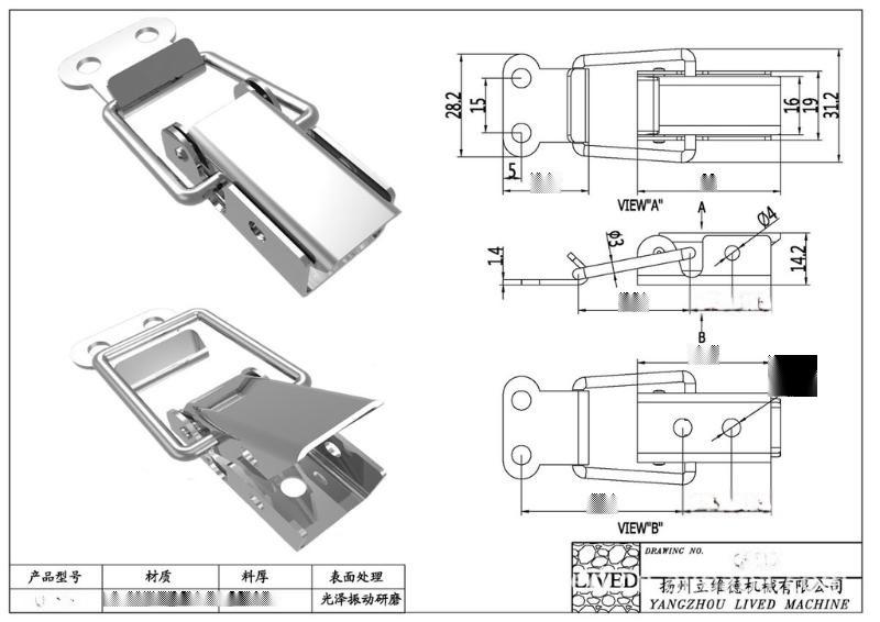厂家供应QF-519防腐保温工程S304不锈钢快开搭扣 桥架搭扣