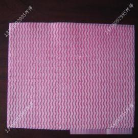 厂家诚信供应多规格人造丝印花水刺无纺布_可定做颜色和网形