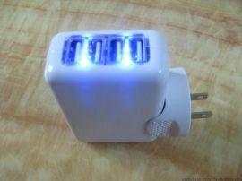 5v3.1a 4usb充电器 配备4个插头转换 3a充电器 4-prot usb travel charger