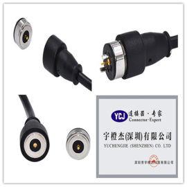 供应厂家定制360度旋转磁吸连接器 超大吸附力盲吸磁性充电接头磁铁插头连接器厂 磁吸插头连接器厂 磁性插头连接器厂