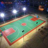 益阳小区公园硅PU篮球场塑胶地面施工