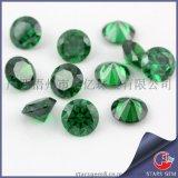 广西梧州锆石批发 八心八箭圆形锆石 AAA高品质