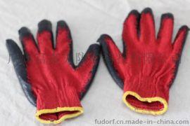 富多夫红棉纱涂胶手套