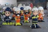 深圳热销玻璃钢消防员造型/卡通消防员人物雕塑