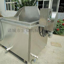 宜福达电加热带搅拌黄豆油炸机