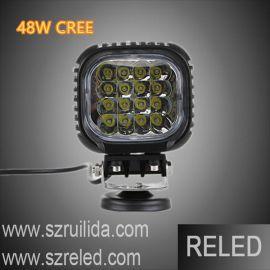 聚光汽车led射灯 5英寸48W科锐 LED工作灯 工程机械灯改装车灯