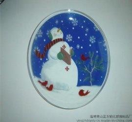 圣诞玻璃盘新款