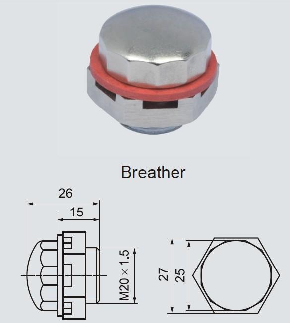 ATEX認證的 防爆呼吸裝置 BHX