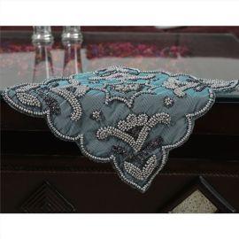 厂家直销珠绣餐巾 串珠丝巾 刺绣餐巾 珠绣餐垫 串珠餐垫