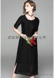 【高端】19年夏季新款真丝气质连衣裙