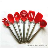 硅胶铲子汤勺厨房用具柔软 烘培工具套装 硅胶厨具硅胶刮刀批发