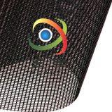 生產供應500D各種顏色方格浸塑PVC網格布箱包面料透氣窗PVC網眼布