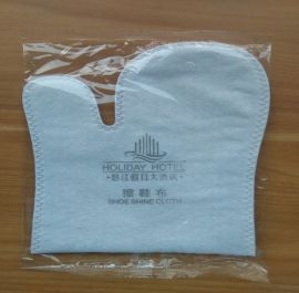 宾馆客房用一次性擦鞋布真丝棉擦鞋布手型擦鞋布
