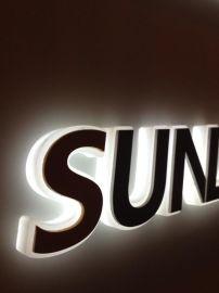 宁波定制不锈钢烤漆  背发光字  公司形象墙门头  招牌背景墙  led户外广告字