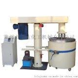 30kw液壓升降籃式砂磨機,塗料分散研磨一體機