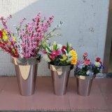 不鏽鋼組合花盆 金屬花桶