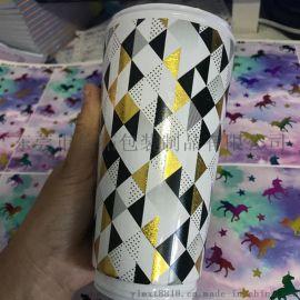 OEM烫金塑料水杯水转印加工贴纸 水贴纸定制