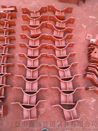 热镀锌三孔长管夹 五里窑鑫涌焊接管道支座管夹横担