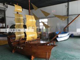 3米海盗船装饰船厂家现货景观木船定做
