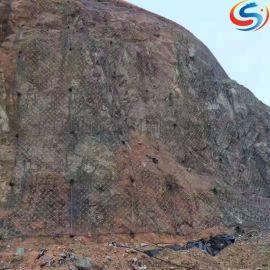 防滑坡SNS边坡防护网,主动拦石防护网,山体防护网