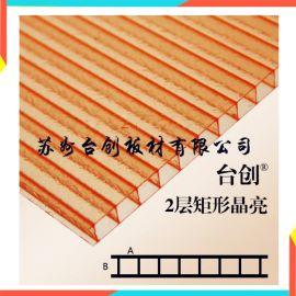江安县、长宁县6mm四层阳光板 6mm蜂窝阳光板