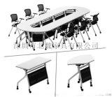 廣東桌百變組合橢圓扇形桌多功能可移動摺疊桌