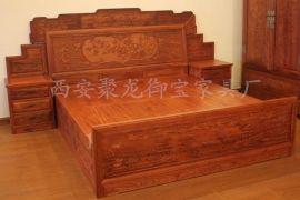 西安实木双人床定制,实木双人床定制批发 聚龙御宝直销