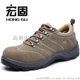 现货供应 劳保鞋 安全鞋 防护鞋 防砸 防刺 PU注塑 耐磨 厂家批发
