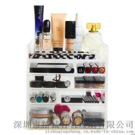 亚克力展示架 化妆品收纳盒 亚克力香水架子 美甲店指甲油首饰架厂家