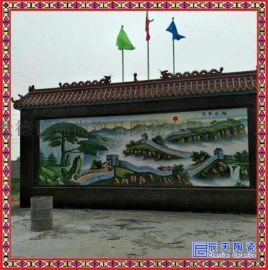 中式客厅纯手工陶瓷壁画仿古艺术瓷板画玄关陶瓷背景墙