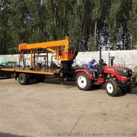 12吨农用平板吊拖车 拖拉机随车吊 小型平板吊车