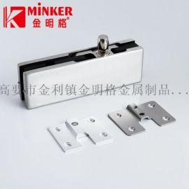 厂家销售无框玻璃门夹固定铝片铁片顶夹锁夹