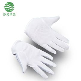 JSJM防静电点塑手套 白色条纹点塑 无尘电子作业耐磨防滑手套批发