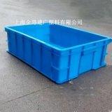 廠家直供 575*390*145 塑料週轉箱 塑膠筐 高強韌性塑膠箱