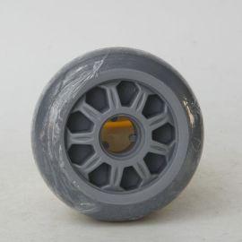 厂家批发 4寸5寸6寸8寸灰胶双轴承单轮  耐磨平板车手推车轮子