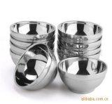 防烫摔不破 厂价直销 不锈钢双层碗砂光碗直径12CM