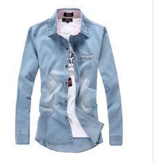 职业衬衫 牛仔衬衫 男女衬衫定制 工作服加工