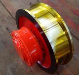φ400x120单缘从动车轮组 起重机大车行走轮 角箱轮 淬火调质轮