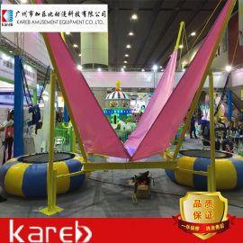 加乐比蹦床 儿童游乐设备 豪华圆形蹦床拓展设备 可移动蹦极蹦床