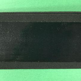 生产厂家订制防滑波浪硅胶黑色滴胶松紧带批发