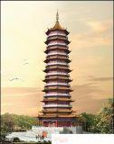 塔设计图,寺庙塔设计,古建塔效果图,古建塔楼施工图