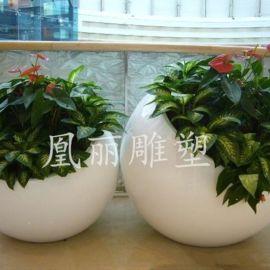 园艺花盆厂家直销酒店商场地产中心售楼部玻璃钢花盆