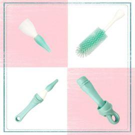 矽膠奶瓶奶嘴刷 可旋转多功能长柄刷