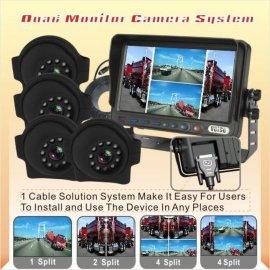 四画面分割车载监控系统倒车影像监控系统