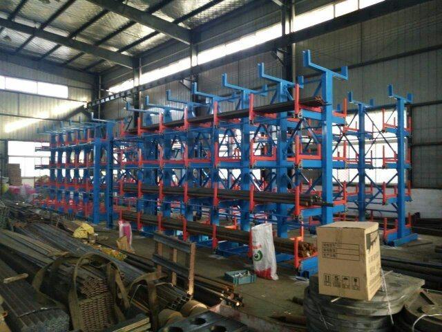 伸缩悬臂式管材货架 长货物货架